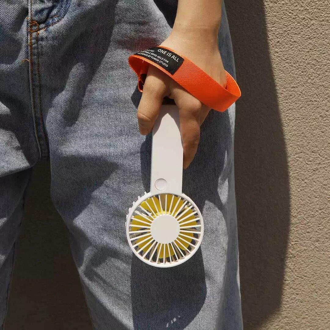 VH Portable USB Charging Mini Handheld Fan 3 Level Adjustable Air Cooling Fans - Orange