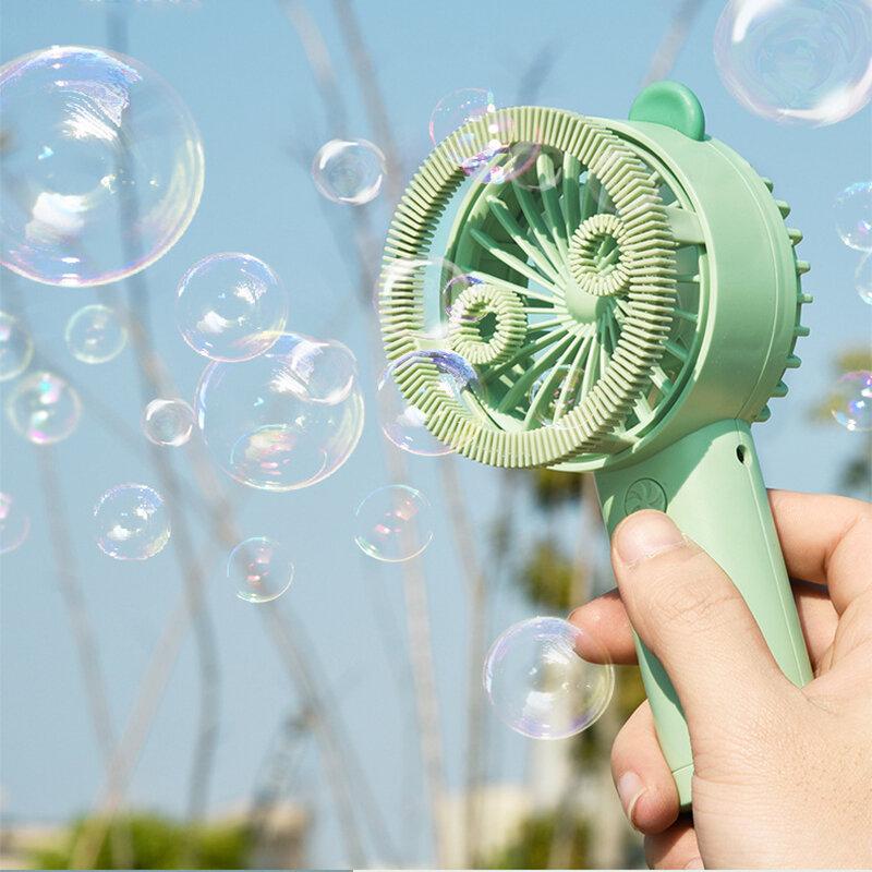 Bubble MIni Handheld Portable Fan with Night Light
