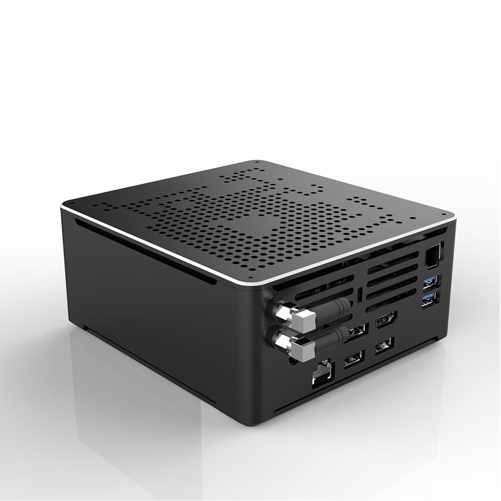 HYSTOU S210H Intel Core i9-9880HK Barebone Eight Core 2.3GHz to 4.8GHz Intel HD Graphics Win10 M.2 2280 SSD