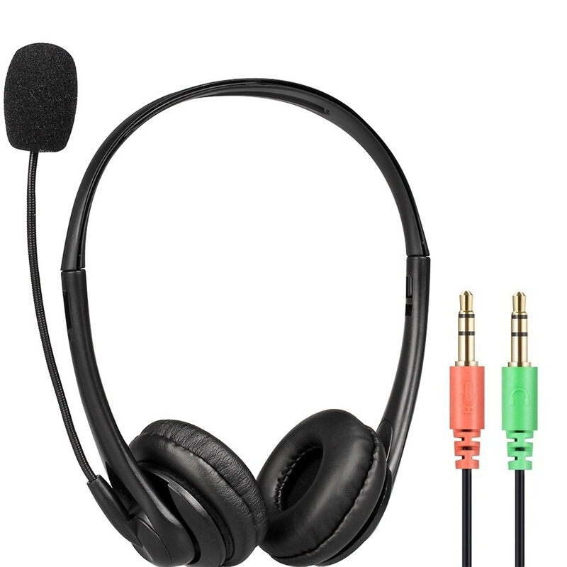 Bakeey U11B Gaming Headphone Student Lesson Headset Double 3.5mm Plug Stereo Meeting Headphone with Mic