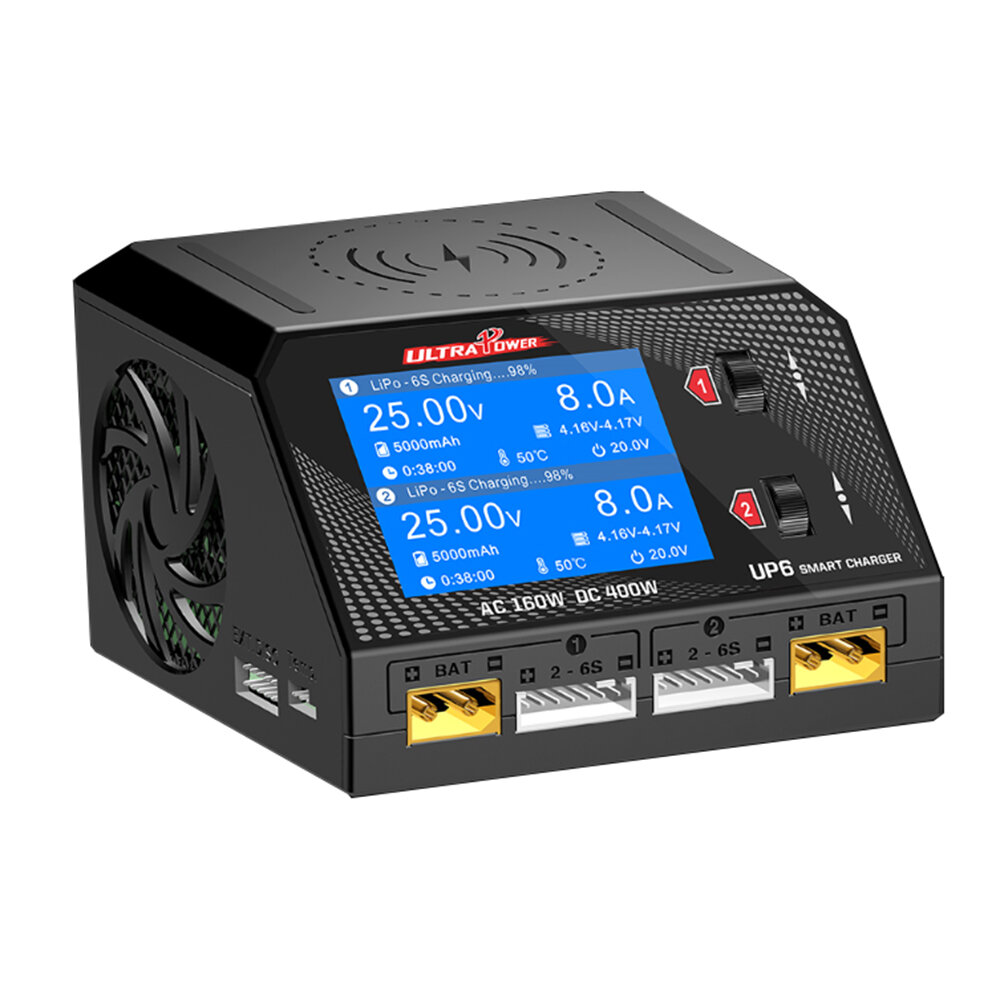 Ultra Power UP6 AC 160W DC 400W 10A Battery Charger