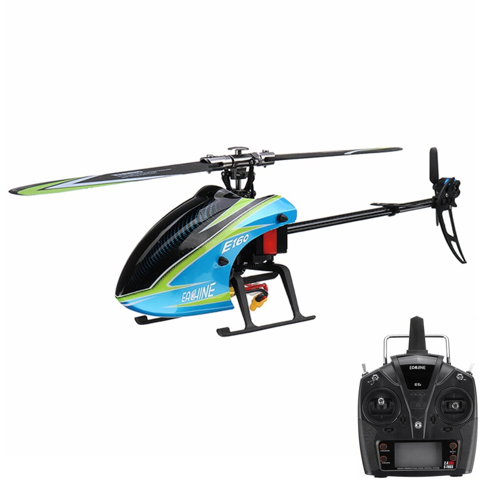 Eachine E160 V2 6CH Dual Brushless 3D6G System Flybarless RC Helicopter RTF Compatible with FUTABA S-FHSS