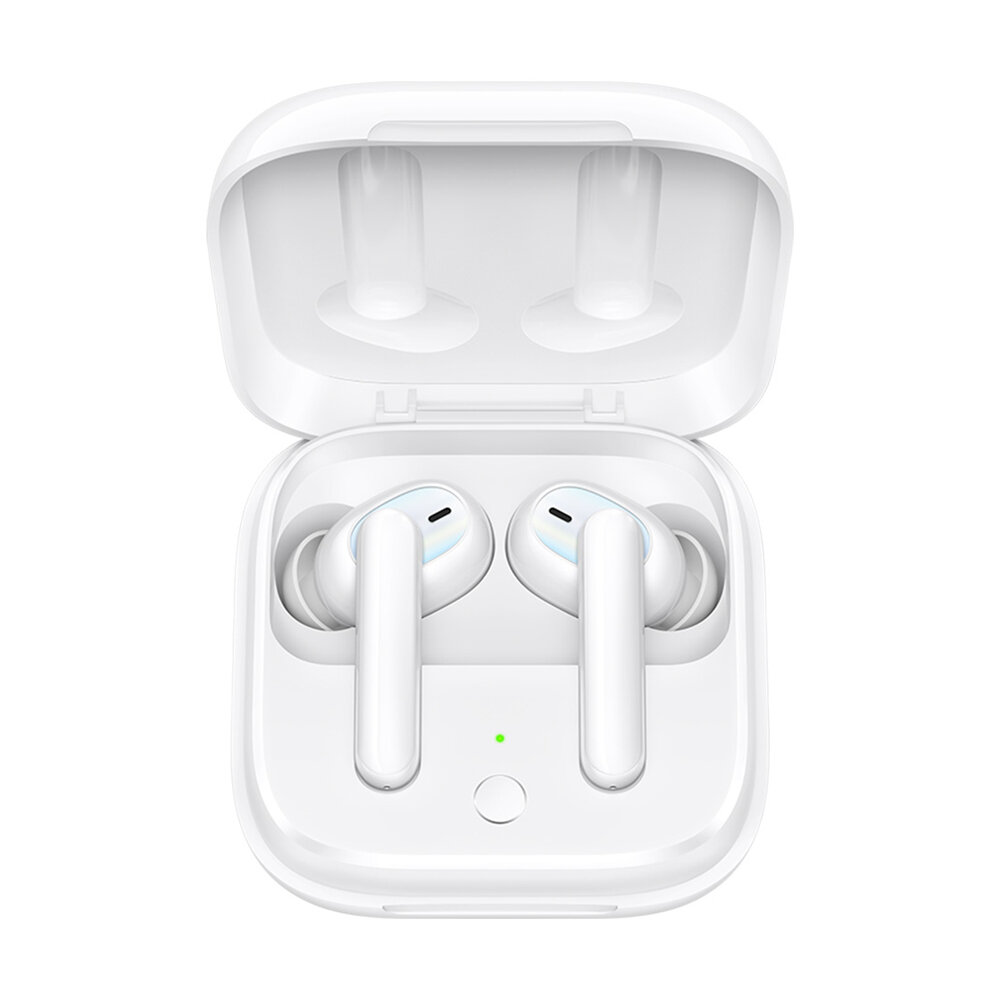 OPPO Enco W51 TWS bluetooth Earphones Wireless Earphones ANC Double Active Noise Cancelling Low Latency HD Call Headphone Earphones with Microphone - White