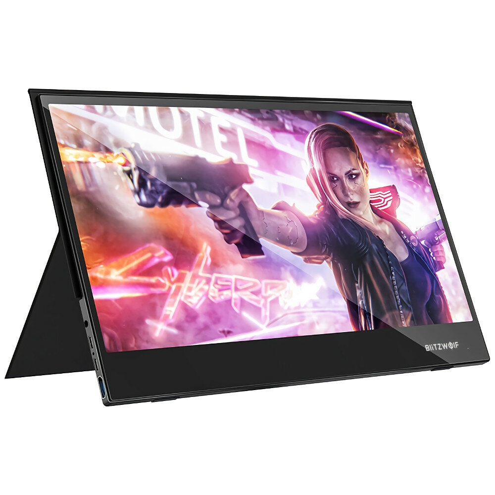BlitzWolf® BW-PCM5 15.6 Inch Touchable UHD 4K Type C Portable Computer Monitor Gaming Display Screen for Smartphone Tablet Laptop Game Consoles