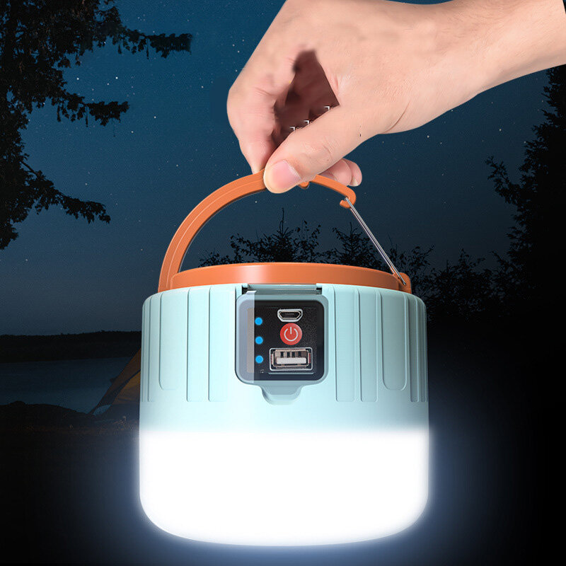 IPRee® Solar LED Camping Light Remote Control 3 Modes USB Rechargeable Work Lamp IP6 Waterproof Power Bank Outdoor Tent Hanging Lantern
