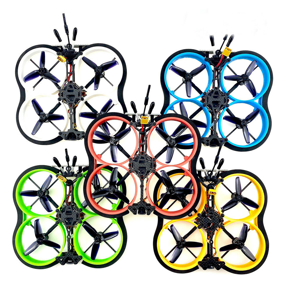 FUS X111Pro 2.5Inch 111mm 2~4S Cinewhoop PNP FPV Racing RC Drone 12A&F411 AIO Board FUS 1106 Motor