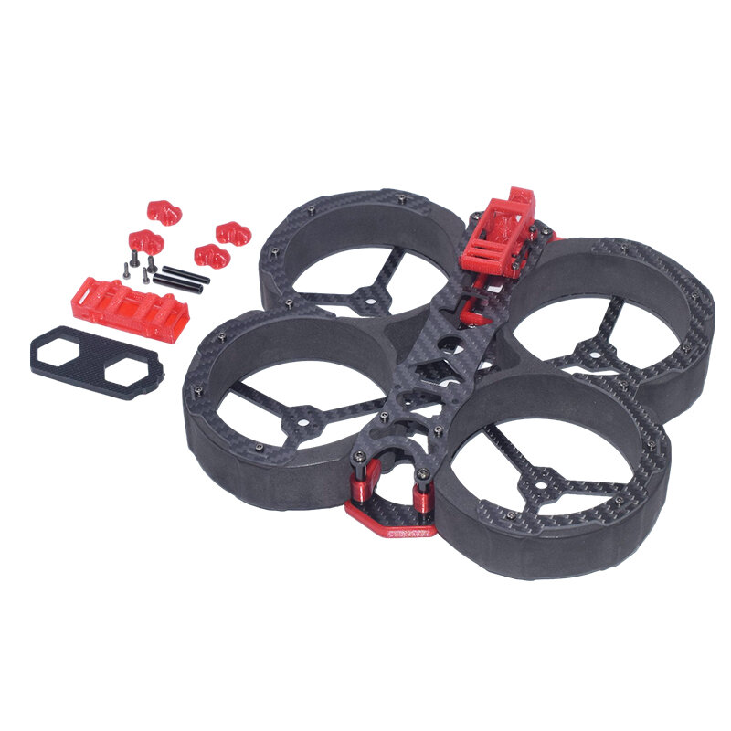 AuroraRC Security HD3 149mm Wheelbase3 Inch Duct Frame Kit Compatible with DJI Air Unit Caddx Vista