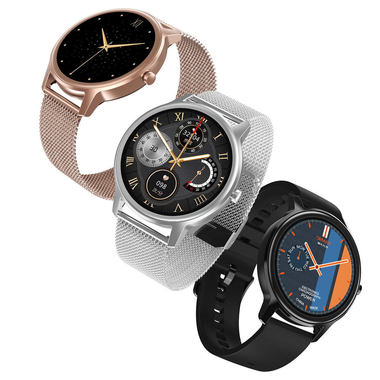DT NO.1 DT56 Full-round Touch Screen Heart Rate Blood Pressure SpO2 Monitor Multiple Dials Camera Music Control Ultra-light Smart Watch