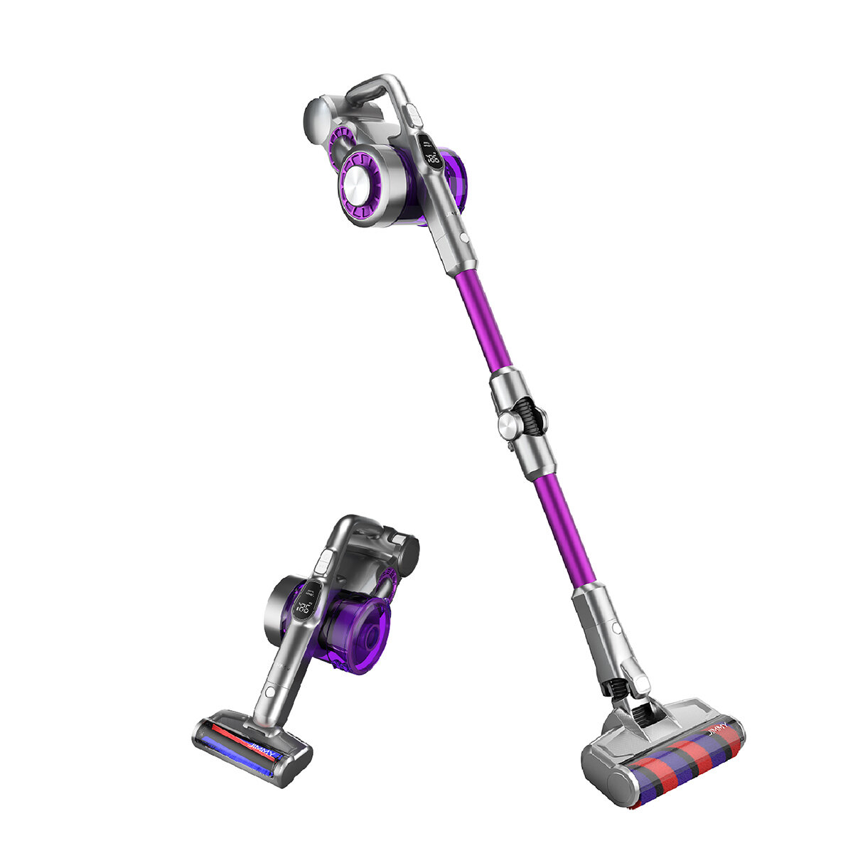 JIMMY JV85 Pro Cordless Flexible Handheld Vacuum Cleaner 24000Pa Suction, 200AW Strong Suction 70 Minutes Run Time LED Display Anti-winding