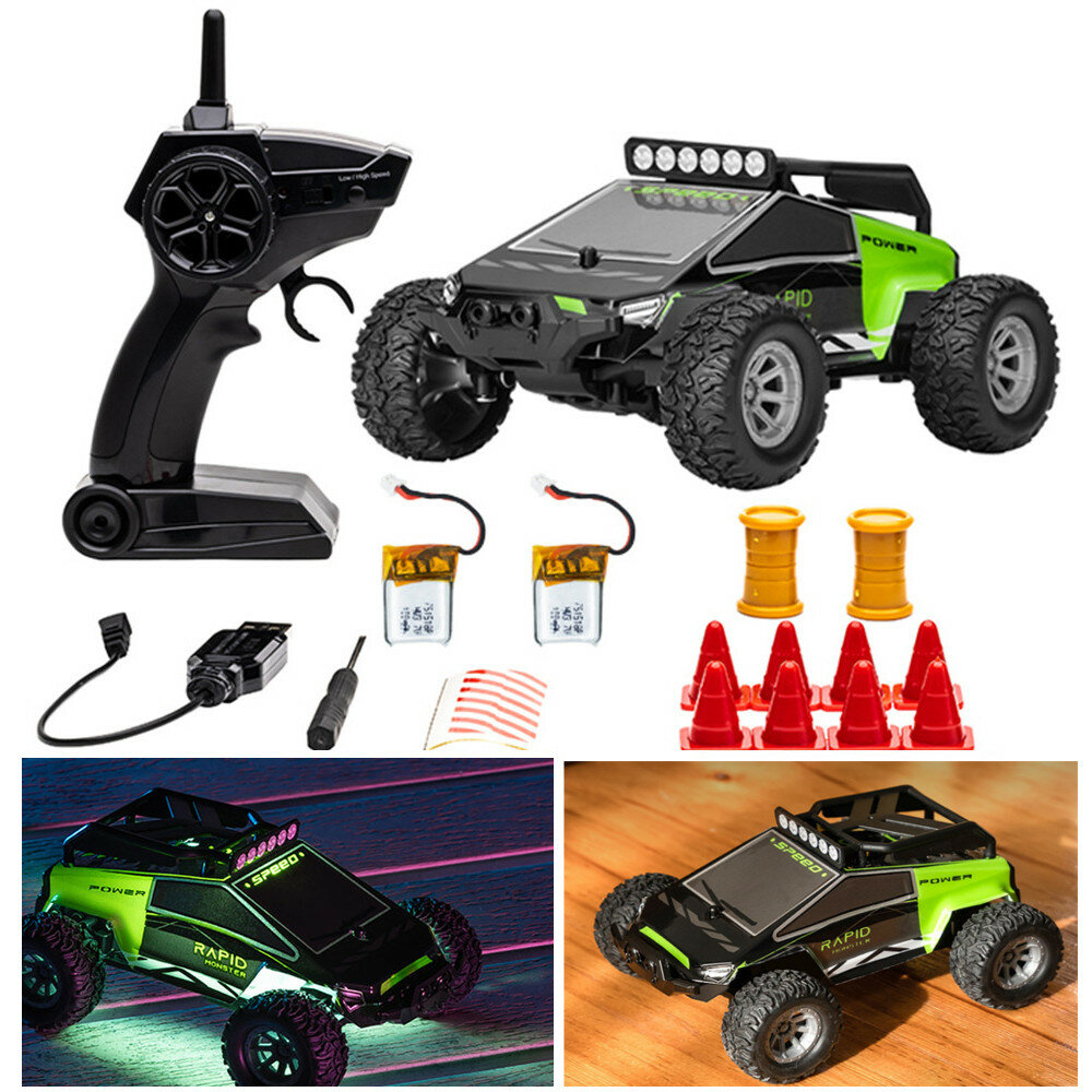 20% OFF for S638 with 2/3 Battery 1/32 2.4G 4CH Full Scale Mini RC Car Dual Motor Off-Road Vehicles Kids Child Toys LED Light Model