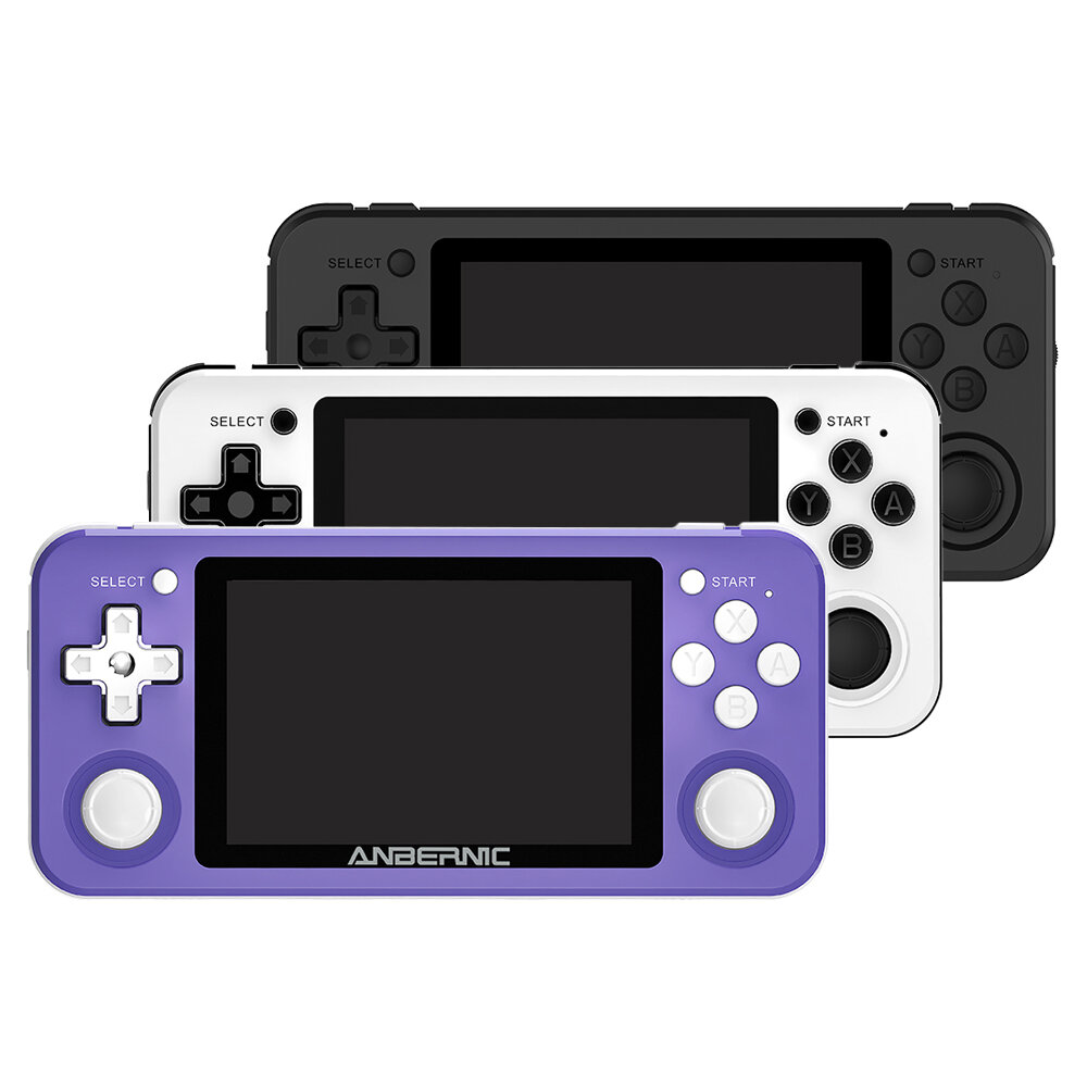 ANBERNIC RG351P 64GB 2500 Games IPS HD Handheld Game Console Support for PSP PS1 N64 GBA GBC MD NEOGEO FC Games Player 64Bit RK3326 Linux System OCA Full Fit Screen - Black