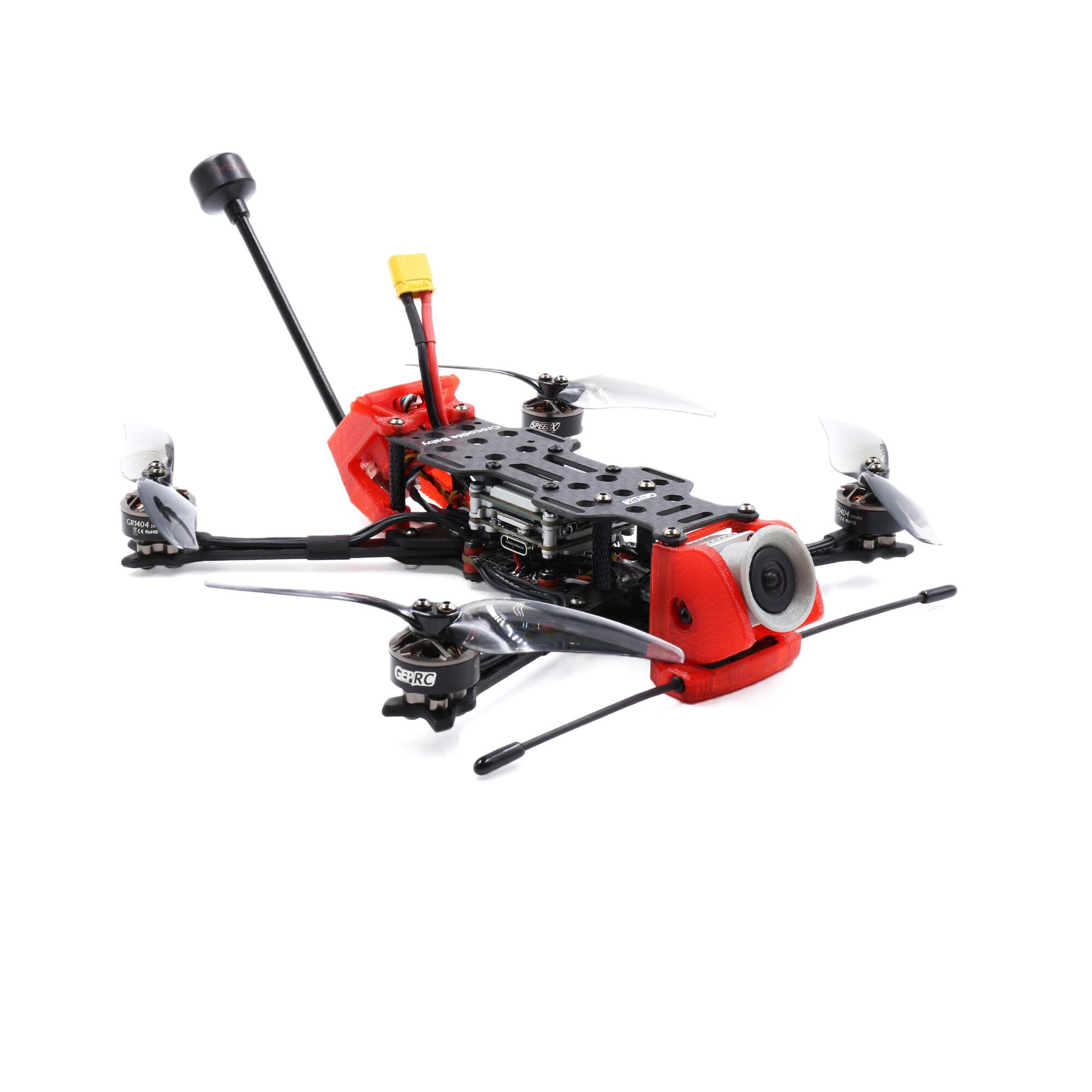 1GEPRC Crocodile Baby 4 Inch HD 4S LR Micro Long Range Freestyle FPV Racing Drone PNP/BNF CADDX VISTA DJI F4 FC 20A ESC 1404 2750KV Motor Sub 250g