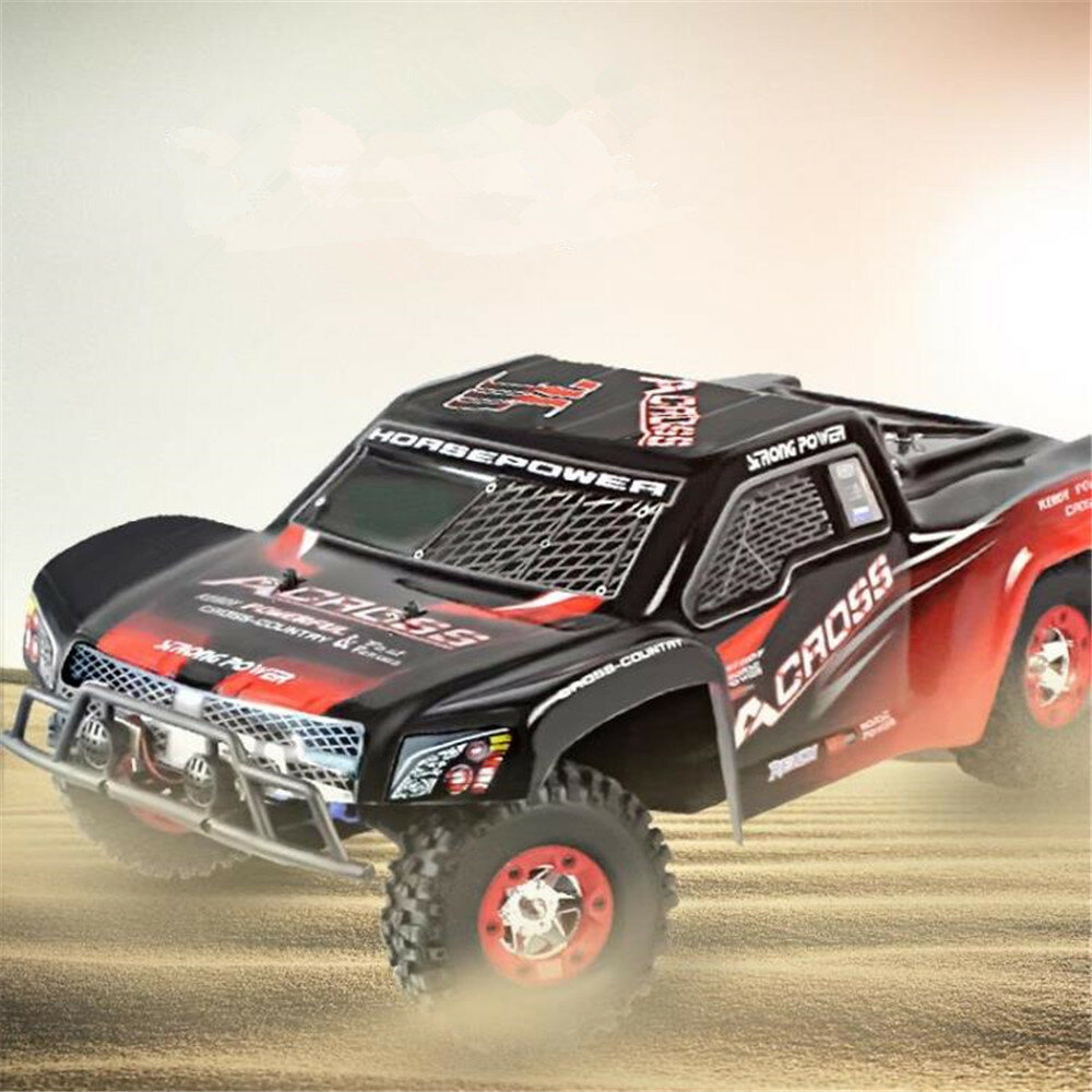 12% OFF for WLtoys 12423 RTR 1/12 2.4G 4WD 50km/h RC Car LED Light Short Course Off-Road Truck Vehicle Models