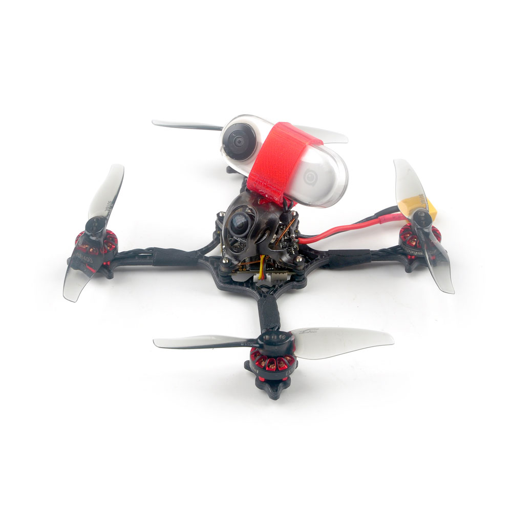 41g Happymodel Crux3 115mm CrazybeeX FR V2.2 F4 AIO ESC 25/200mW VTX 1-2S 3 Inch Toothpick FPV Racing Drone BNF w/ 1202.5 Motor Caddx ANT 1200TVL Camera Support Insta360 Go