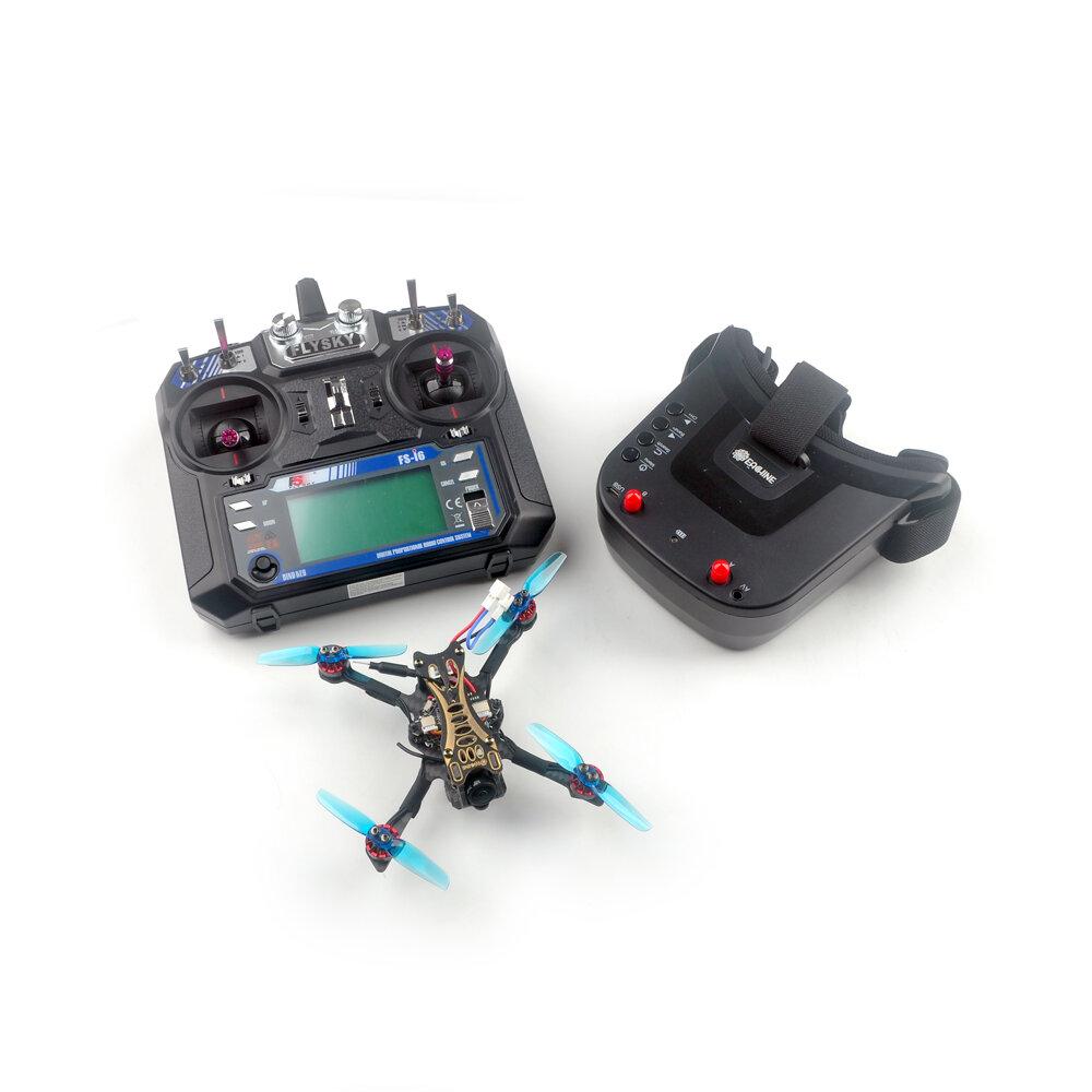 Eachine Novice-II V2.0 1-2S 2.5 Inch Toothpick FPV Racing Drone RTF & Fly more w/ Flysky FS-I6 2.4G Transmitter 5.8Ghz 40CH VR009 Goggles
