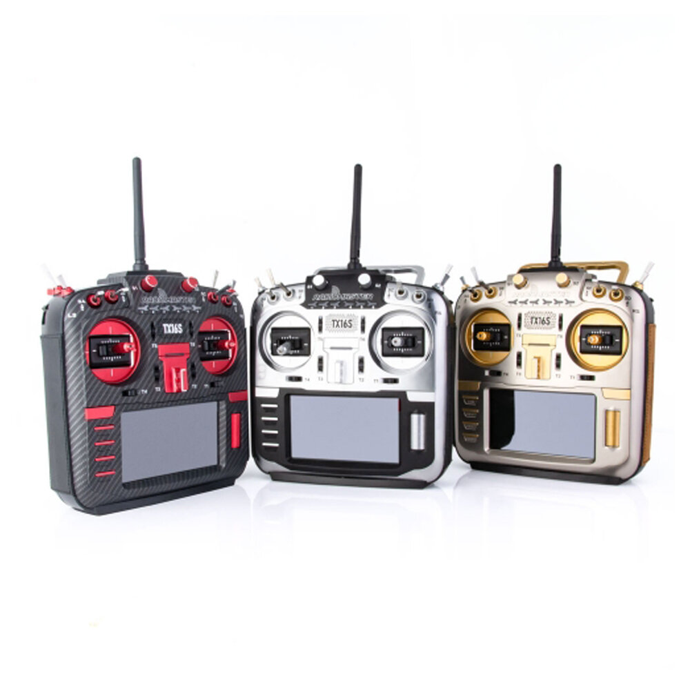 RadioMaster TX16S MAX Edition 2.4G 16CH Hall Sensor Gimbals Multi-protocol RF System OpenTX Mode2 Transmitter with CNC and Leather for RC Drone