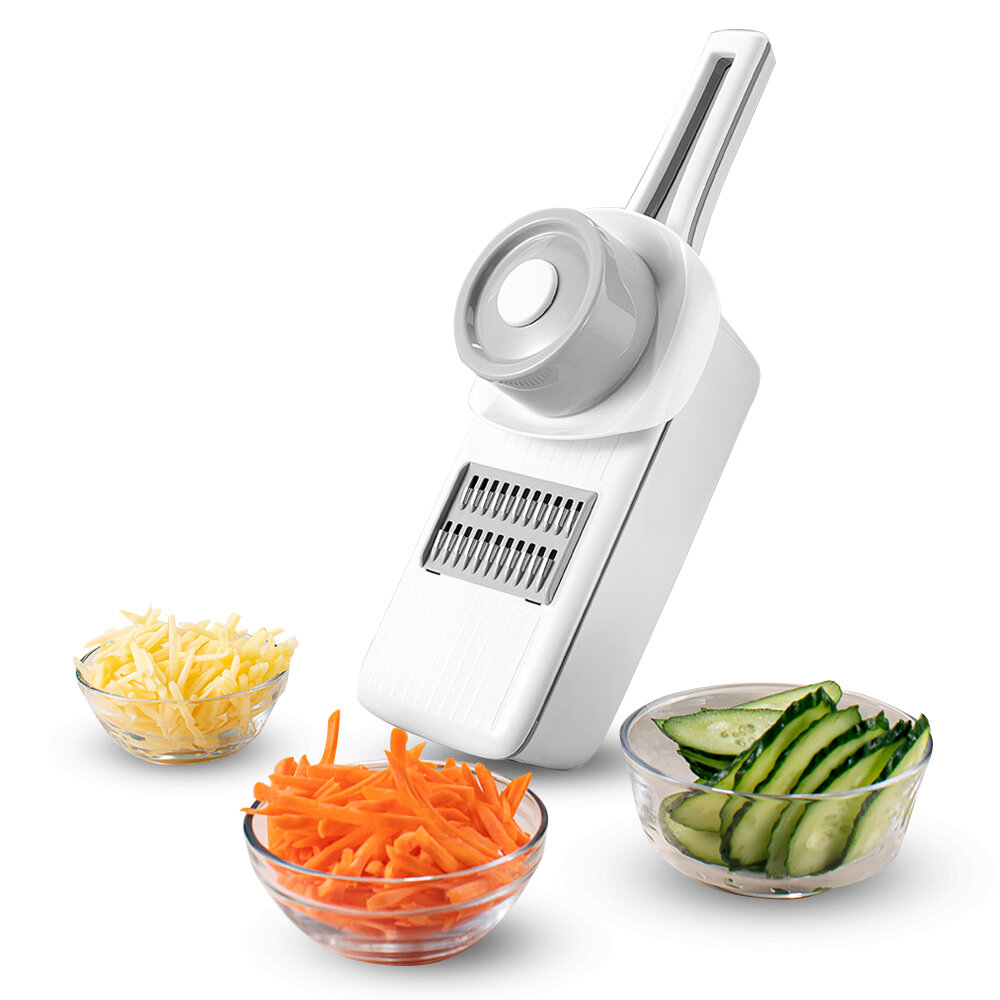 HUOHOU Multifunctional Kitchen Slicer Hand Protection Multiple Blade Automatic Storage ABS Slicer Kitchen Tool
