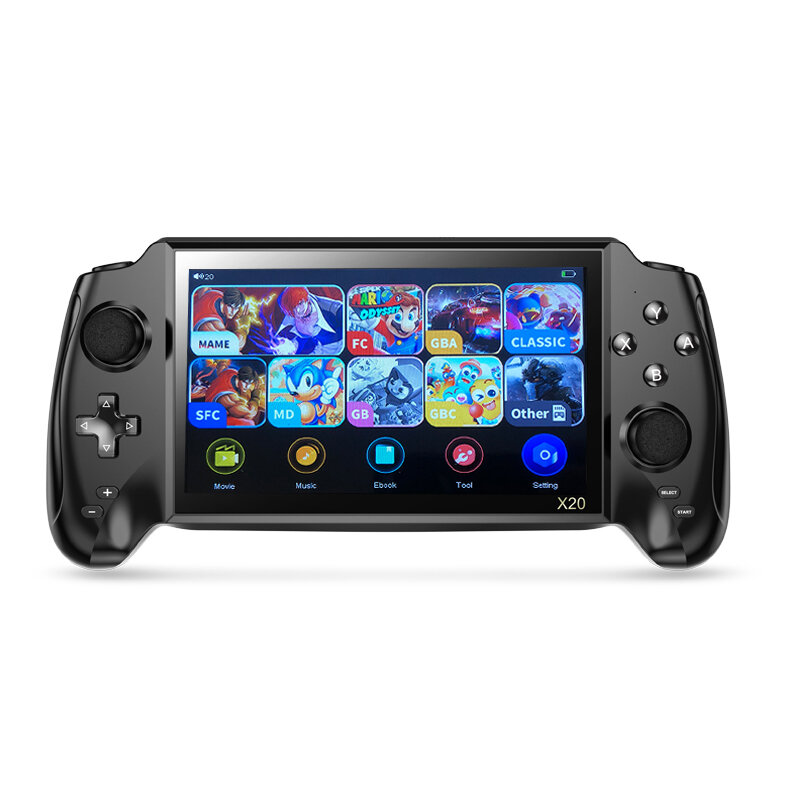 ANBERNIC X20 7 inch HD Handheld Game Console 16GB 48GB 7000+ Games Retro Game Player Support MD NEOGEO GBA FC NES Built-in 30MP Camera