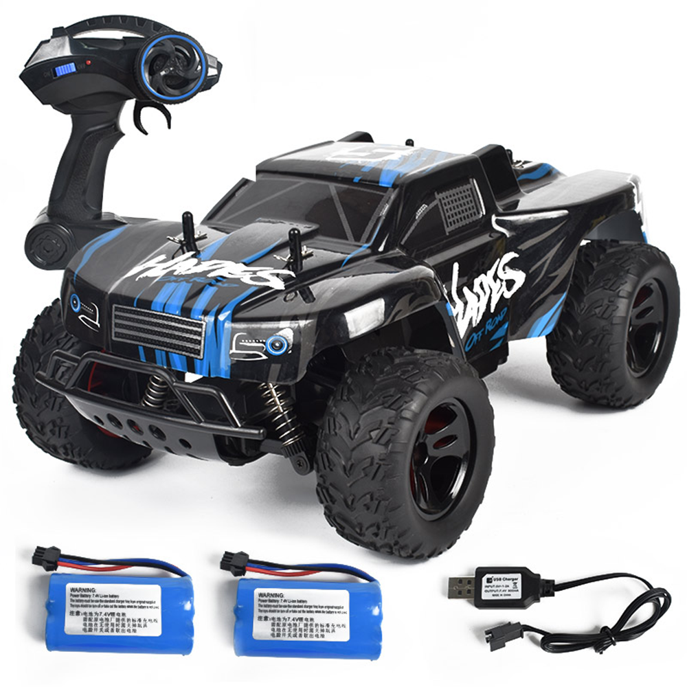 12% OFF for 1/14 RTR Two/Three Battery 2.4G RWD 30km/h RC Car Vehicles Models High Speed Off-Road Truck Kid Children Toys