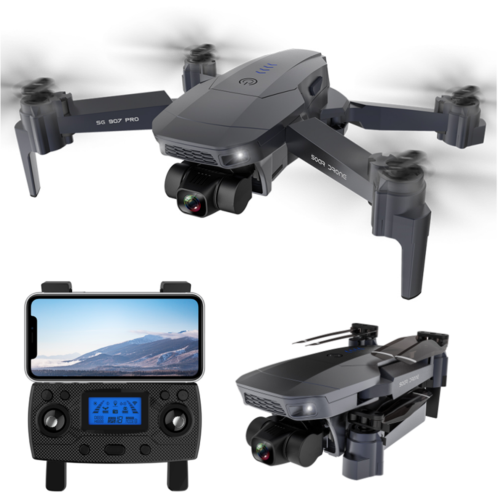 10% OFF for ZLRC SG907 Pro 5G WIFI FPV GPS With 4K HD Dual Camera Two-axis Gimbal Optical Flow Positioning Foldable RC Drone Quadcopter RTF