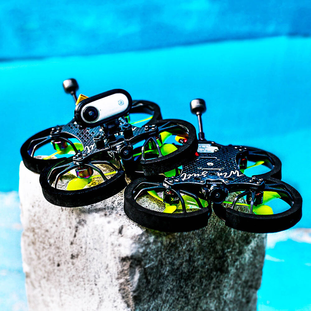 12% OFF for HOMFPV Wingsuit 2.5 Inch 100mm Wheelbase FPV Racing Drone PNP/BNF Caddx Vista Nebula F405 F4 FC 4S 25A Blheli_S AIO ESC