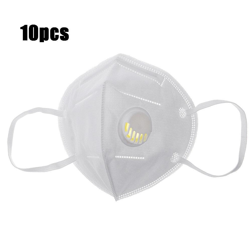 10Pcs KN95 Face Masks PM2.5 Purifier Anti-foaming Splash Proof Mask Dustproof Face Mask with Breathing Valve