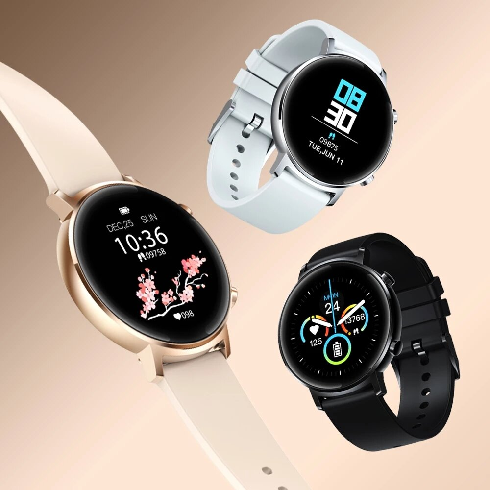 [30 Days Standby]Zeblaze GTR 1.3'' Full Touch Curved Screen bluetooth 5.1 Heart Rate Blood Pressure Monitor Female Cycle Tracker Smart Watch