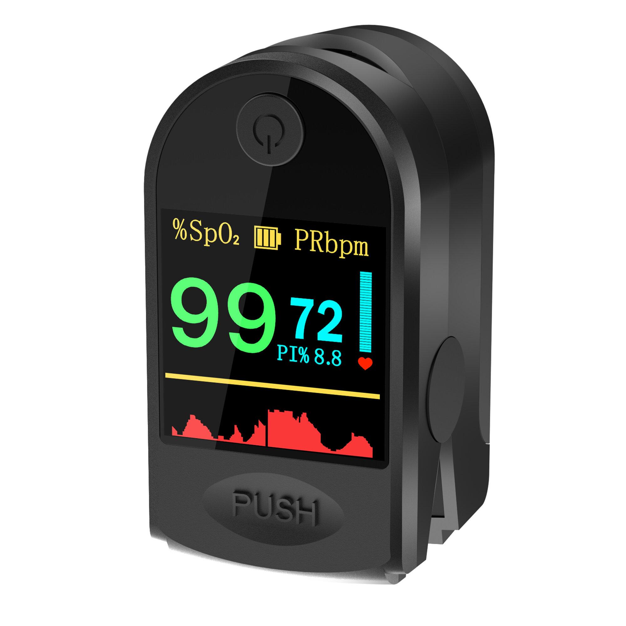 BOXYM P2000 Finger-Clamp HD OLED Pulse Oximeter Finger Blood Oxygen Saturometro Heart De Oximeter Portable Pulse Oximetro Monitor