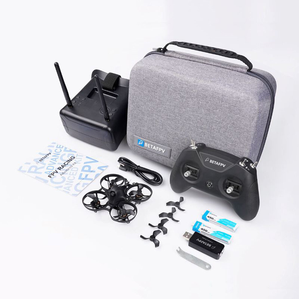 10% off for BETAFPV Meteor75 Lite RTF Whoop Advanced Kit 2SE Indoor FPV Racing Drone w/ Frsky D8 Receiver LiteRadio 2 & VR01 FPV Goggles
