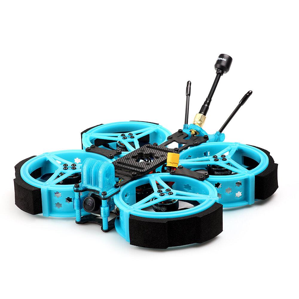 Eachine Cvatar 120mm 6S 2.5 Inch Cinewhoop Duct FPV Racing Drone PNP/BNF RunCam Nano2 Cam F722 DJI FC 1404 3600KV Motor 25A ESC for Gopro / Insta360