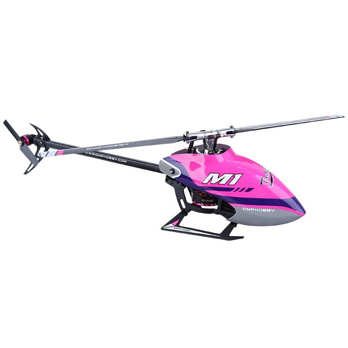 OMPHOBBY M1 290mm 6CH 3D Flybarless Dual Brushless Direct-Drive Motor RC Helicopter BNF with Adjustable Flight Controller Compatible with FUTABA S-FHSS
