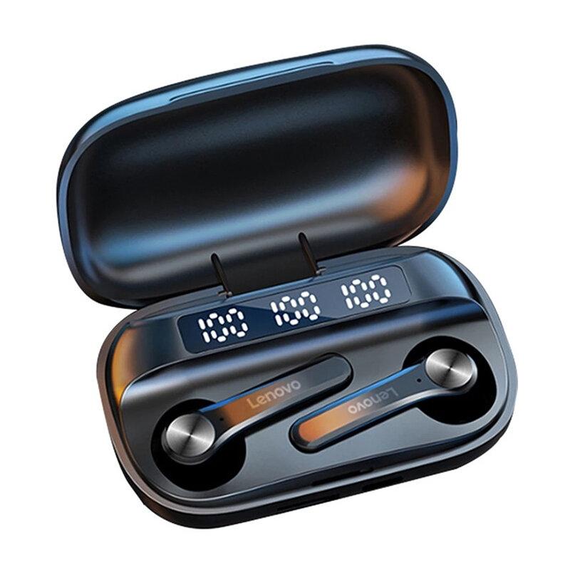 Lenovo QT81 TWS bluetooth 5.0 Earphone LED Power Display 1200mAh HiFi Stereo Bass Waterproof Sport Headset Headphone with Mic