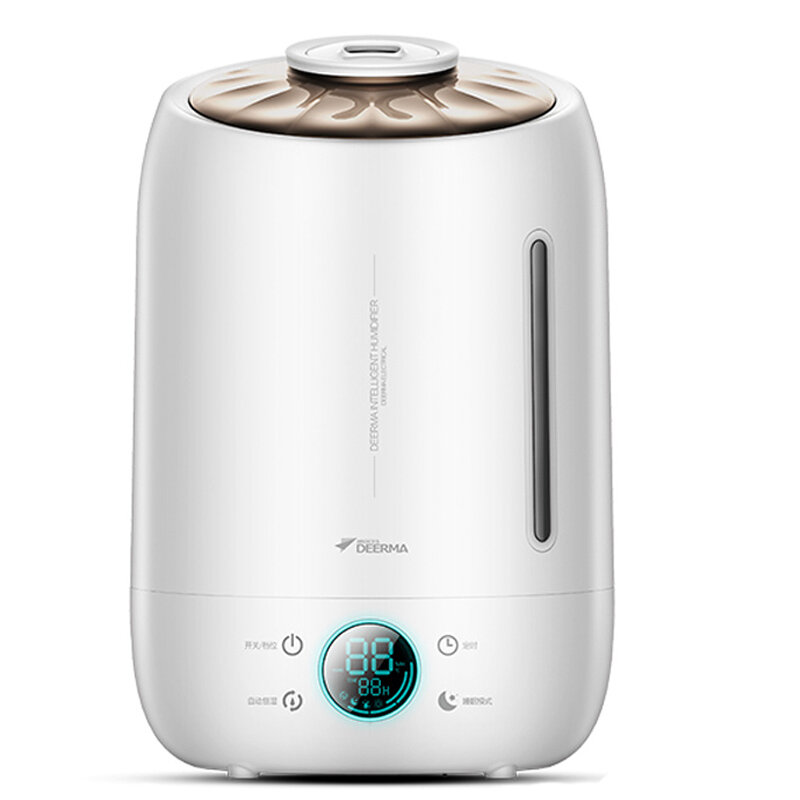 Deerma DEM-F500/DEM-F500 Upgrade Air Humidifier Aroma Diffuser Oil Ultrasonic Fog 5L Low Noise 12h Timing 3 Gear Spray Volume Touch Control
