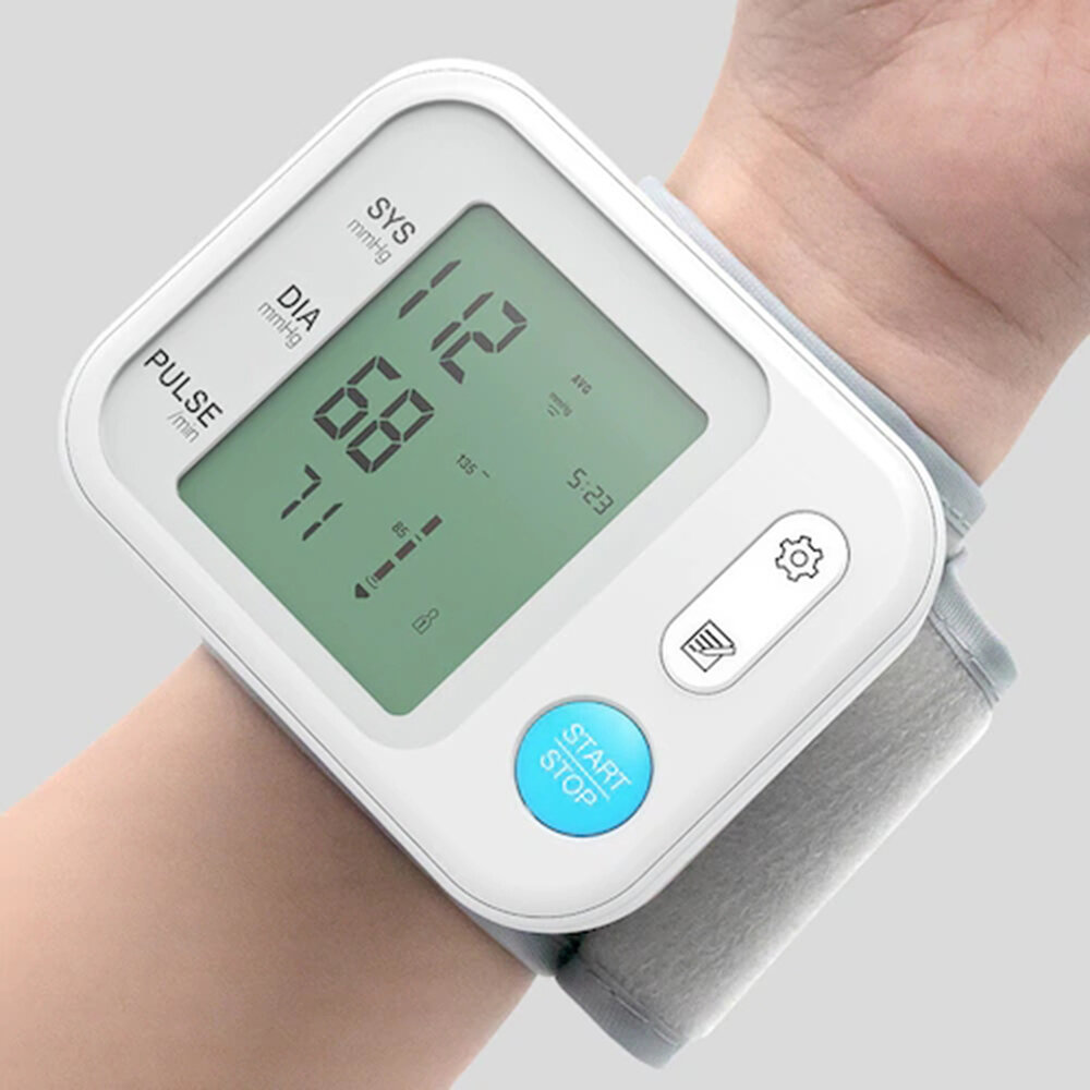 BOXYM YK-BPA3 Electronic Wrist Blood Pressure Monitor Sphygmomanometer Tonometer Health Household Heart Rate Equipment for Home Body Care