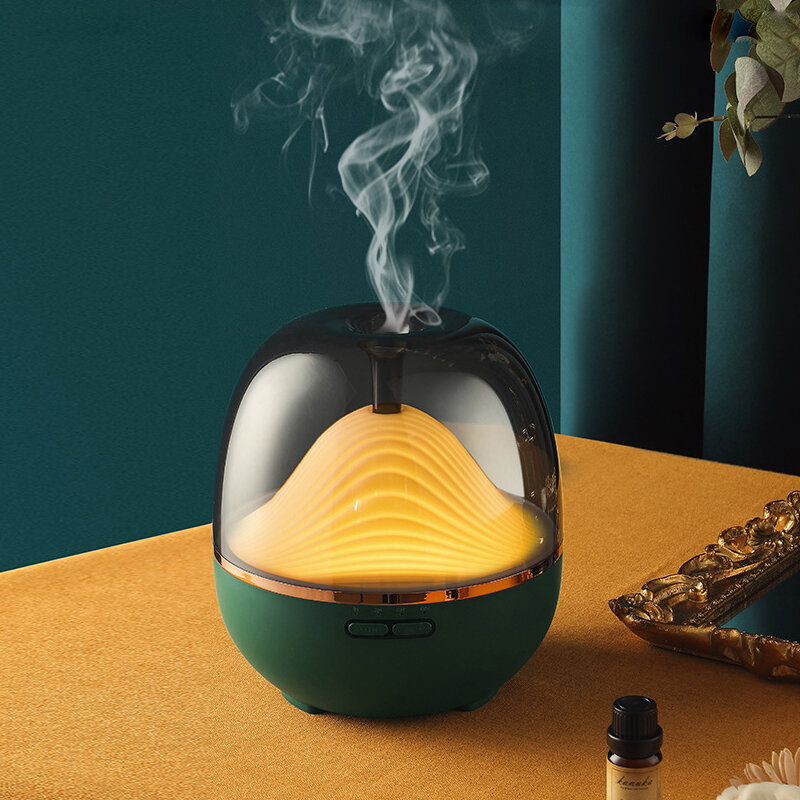 600ml Humidifier Aroma Diffuser with Colorful Night Light Remote Control Three Gear Tming Low Noise for Home Office