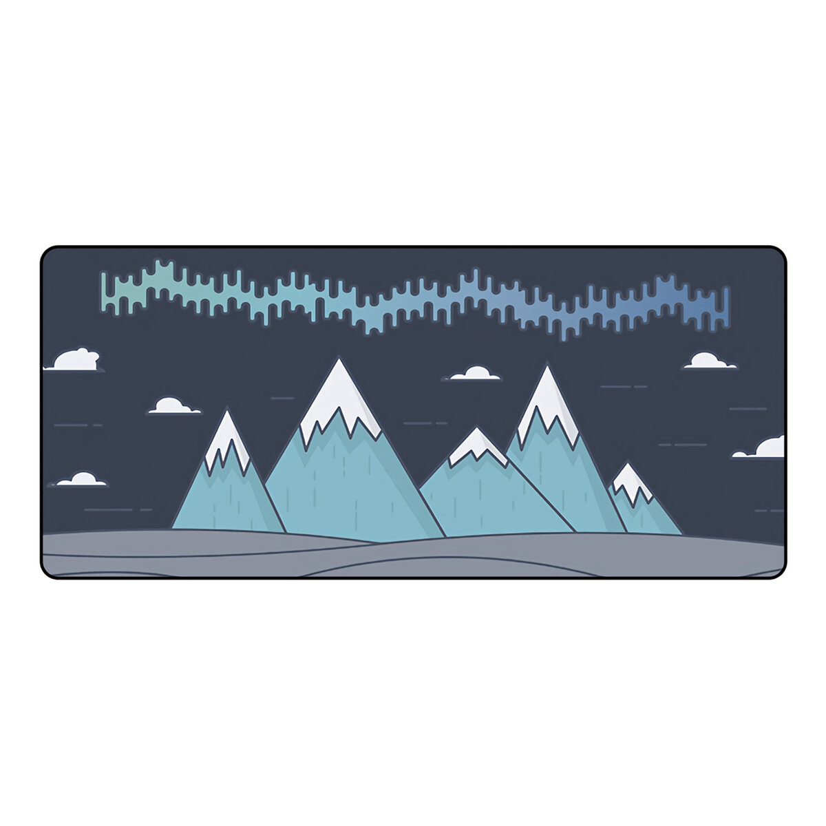 FBB Extra Large Mouse Pad Mountains Anti-slip Rubber Gaming Keyboard Pad