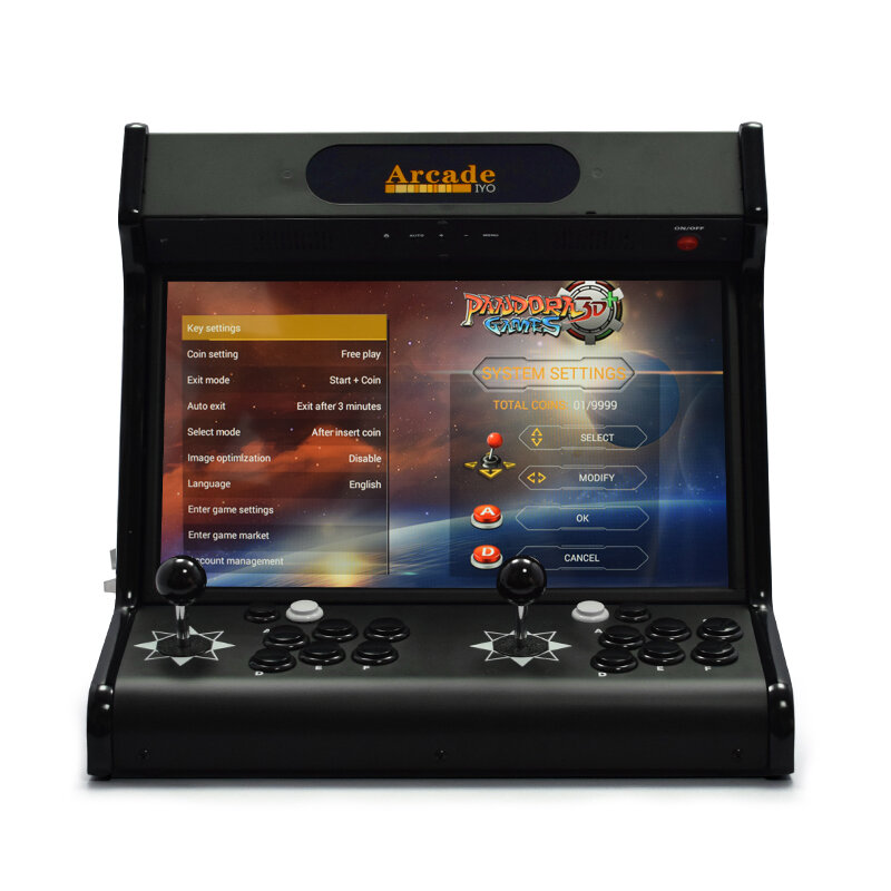 PandoraBox 3D 64GB 4018 Games 18.5 Inch IPS 720P HD Arcade Game Console WIFI Home Fighting Controller