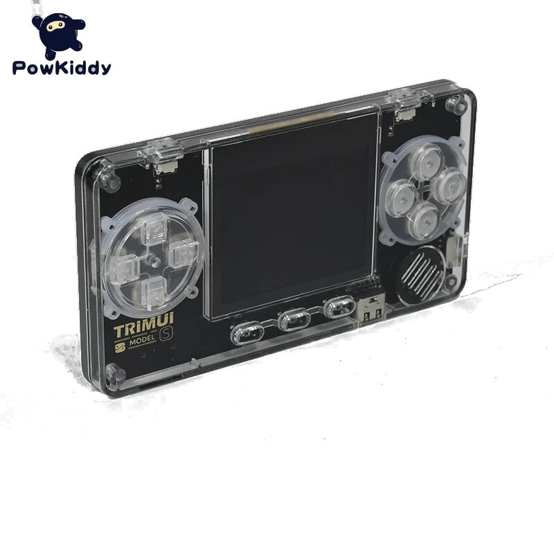 POWKIDDY A66 Trimui 32GB 4000 Games 2 inch IPS LCD Mini Transparent Game Console