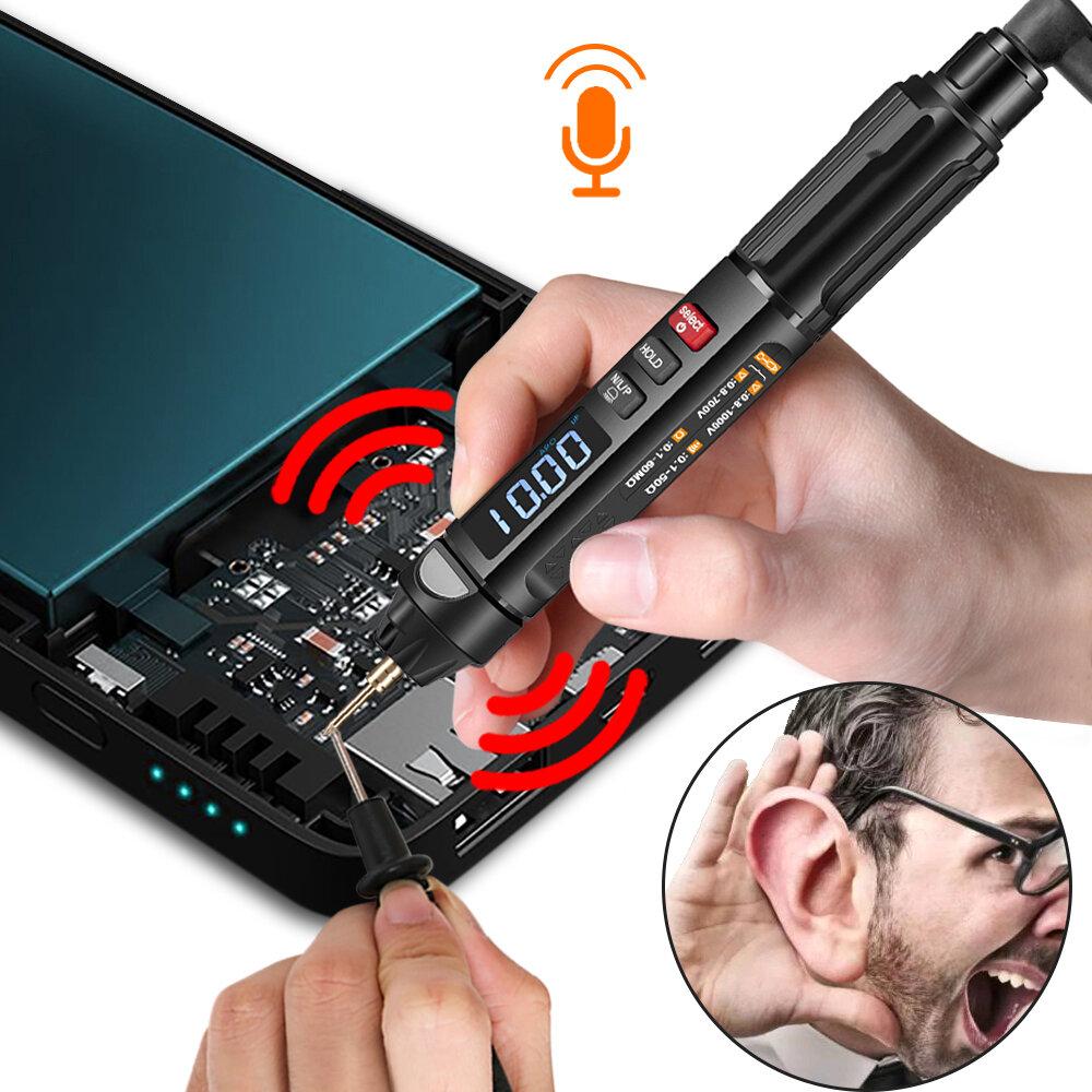 MUSTOOL MT007/MT007 Pro/MT007 Pro-EN True RMS Digital Multimeter + Voltage Test Pen +Phase Sequences Meter 3 In 1 Color Screen Voice Broadcast