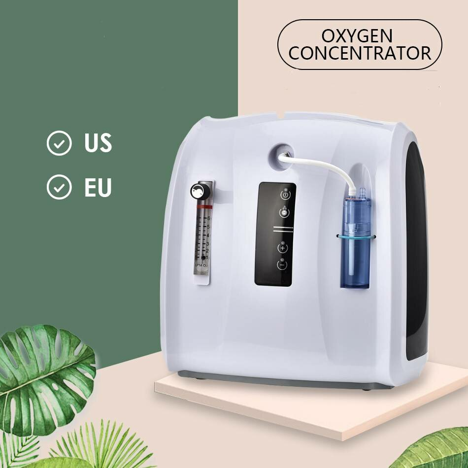 Oxygen Concentrator Machine 1-6L/min Adjustable Portable Oxygen Machine for Home and Travel Use Without Battery