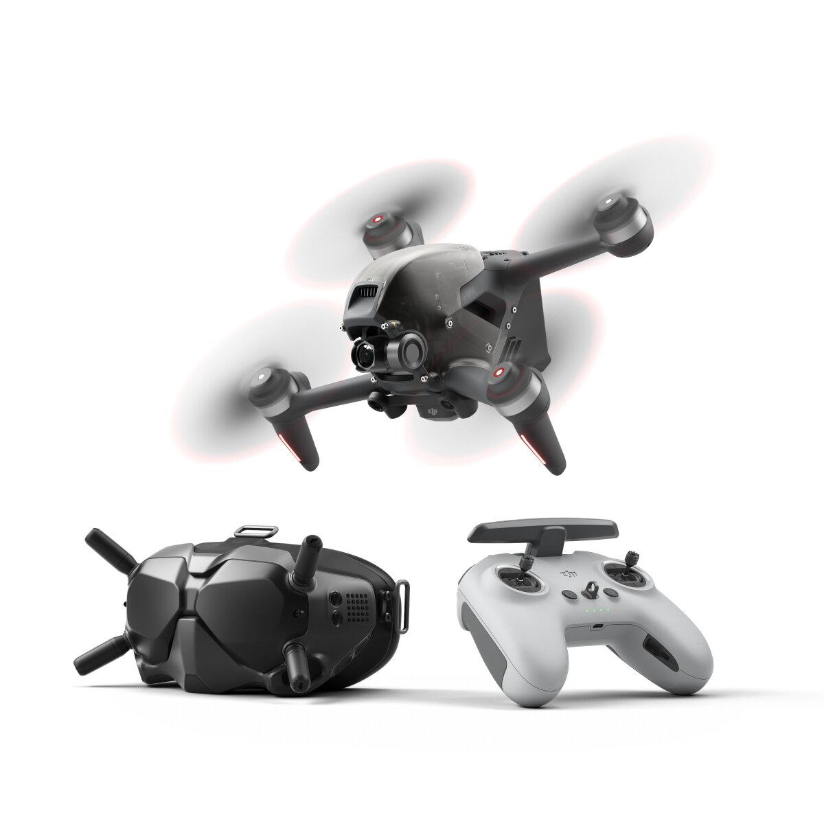DJI FPV Combo 10KM 1080P FPV 4K 60fps 150° FOV Camera 20mins Flight Time 140 km/h Speed FPV Drone RC Quadcopter FPV Goggles V2 5.8GHz Transmitter Mode2