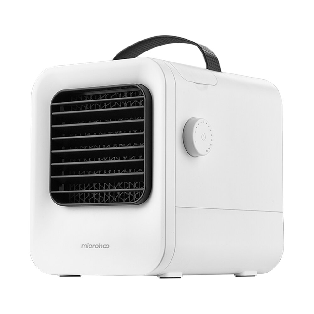 Microhoo MH02A Portable USB Air-Conditioning 2.5m/s Cooling Fan Negative Ion Purifier Air Cooler Stepless Speed Regulation for Home Office