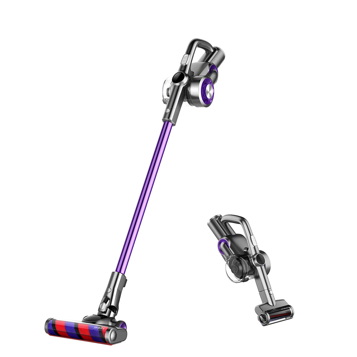 JIMMY H8 Pro Cordless Stick Handheld Vacuum Cleaner 4 Mode Adjustment 25000Pa Powerful Suction 160AW Brushless Motor Lightweight for Home Hard Floor Carpet Car Pet LED Display Low Noise