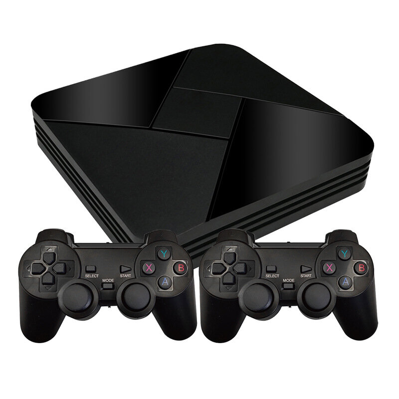 Powkiddy B-01 64GB 128GB 40000 Games Retro TV Games Console 2.4G Wifi Android 7.1 TV Box for PS1 N64 ATARI MD FC Classic Games Player support Download Games GameBox