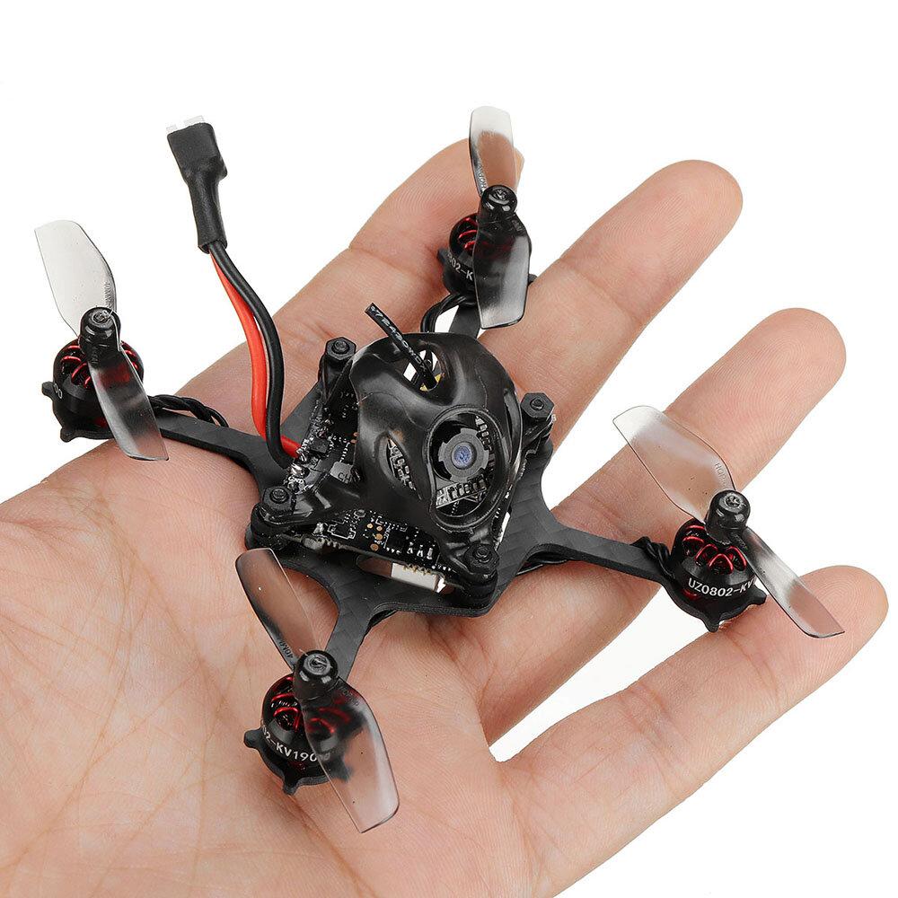 19.5g URUAV UZ80 80mm Crazybee F4 Lite 1S DIY Toothpick FPV Racing Drone BNF w/ 0802 19000KV Motor Runcam Nano 3 FPV Camera