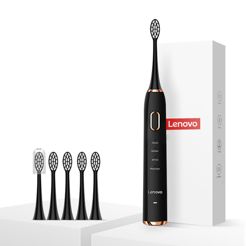 Lenovo Electric Toothbrush USB Charging Waterproof Removing Dental Plaque 12 Cleaning Modes Teth Soenic Toothbrush
