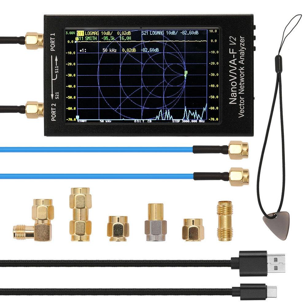NanoVNA-F V2 50kHz-3GHz IPS 4.3Inch LCD Display Vector Network Analyzer S-A-A-2 Antenna Analyzer Short Wave HF VHF UHF