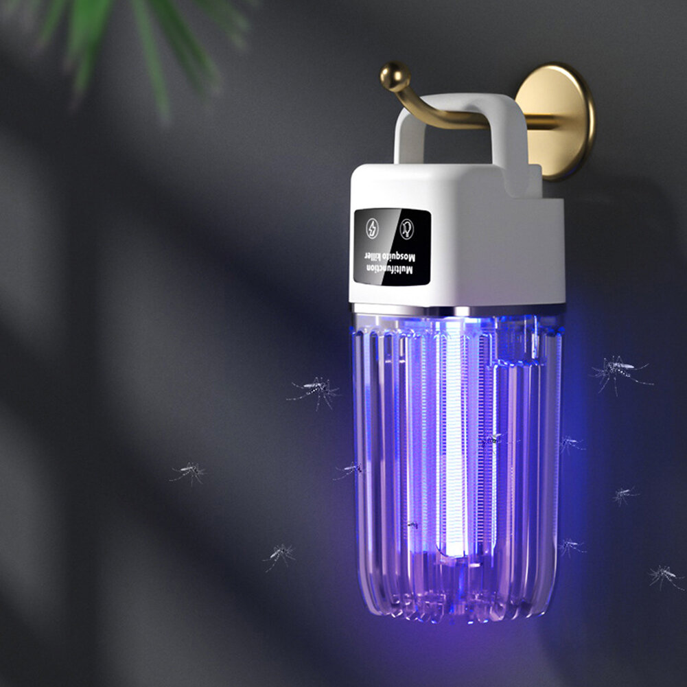USB Photocatalytic Electric Fly Bug Insect Zapper Trap LED Night Light Mute Silent Pest Control Mosquito Repellent Killer Lamp for Home Room Outdoors