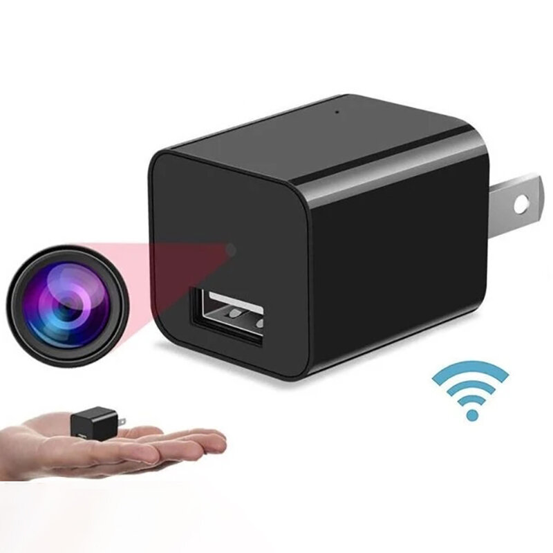 1080P Camera Charger Wireless Mini USB Charger Camera Moving Detection 1A Fast Charge Security Camera Portable Camera Power Adapter Video Recorder - EU Plug UX-8 direct recording