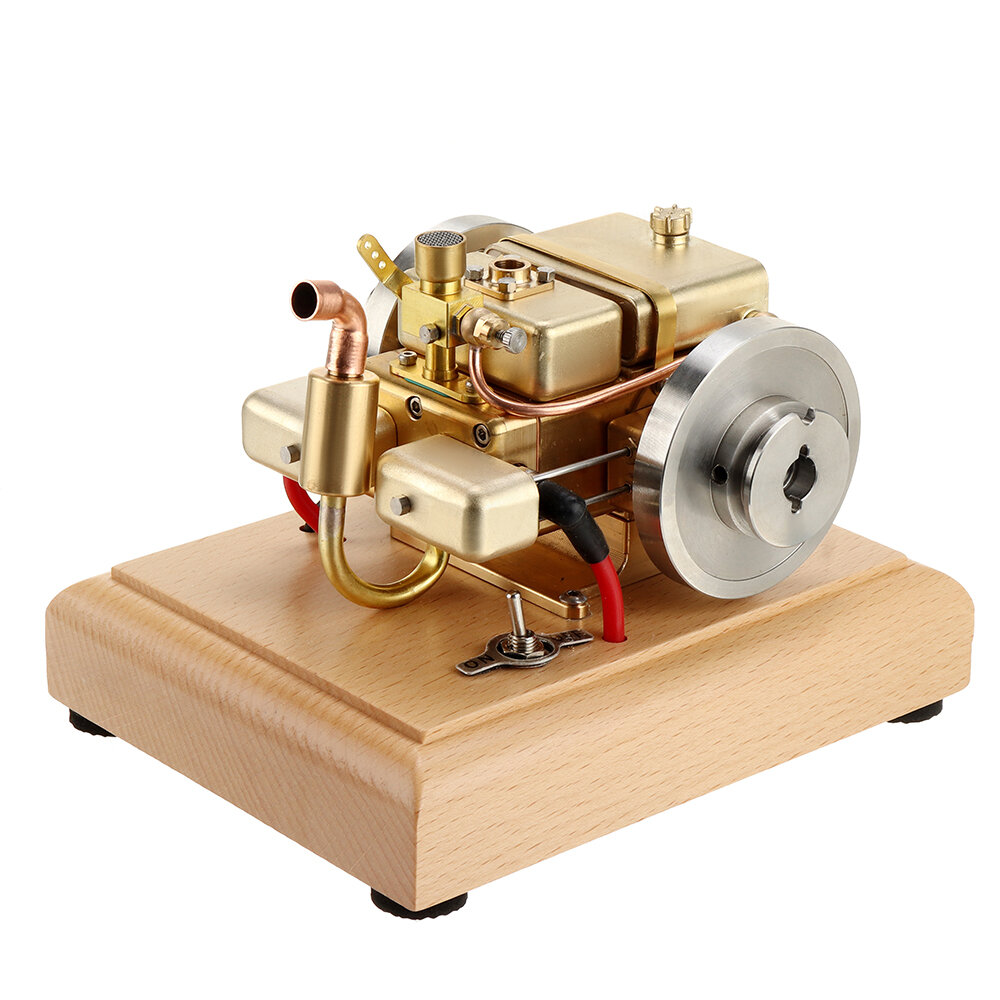Eachine ET5S Horizontal Two Cylinder Engine Model Water-cooled Cooling Structure Brass And Stainless Steel STEM Engine Toys Collection Gifts